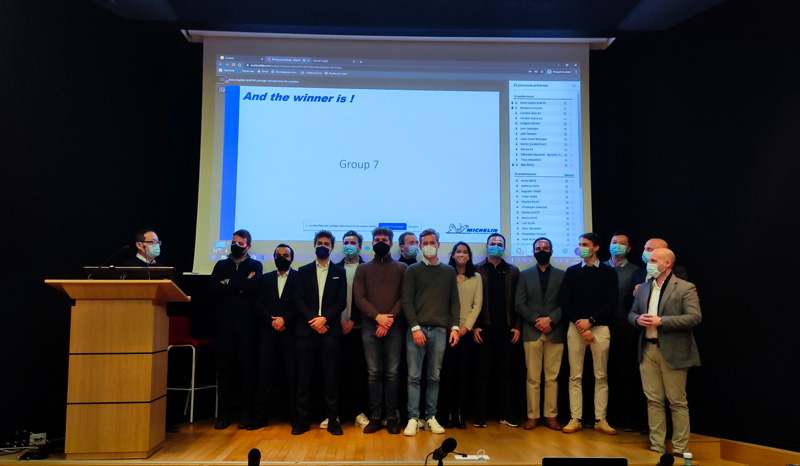 ESCP Business School - MSc in Big Data and Business Analytics - Hackathon 2021: The jury, made up of ESCP professors, Michelin representatives, tech partners and Spinfi members, awarded a prize for each of the three subject areas.