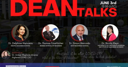 The Future of Education: Perspective from ESCP Students and Dean participating in the EFMD-HigherEd Virtual Careers Fair