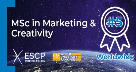 ESCP's MSc in Marketing & Creativity Ranked in Top 5 Worldwide by QS