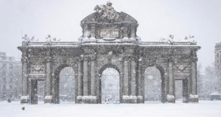 Snow Storm hits Madrid. ESCP Madrid Campus Closed